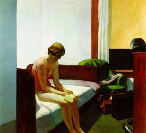 'Hotel Room' van Edward Hopper. Bron: www.ibiblio.org